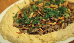 Hummus or Baba Ghanouge w/Chicken or Meat - Tucson Halal Resturant